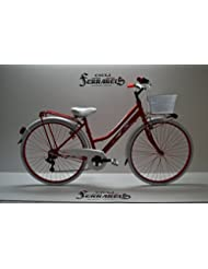 Desplazamiento de ratón sobre la imagen para realizar el zoom lo Tienes un de vender? Vendine un igual de bicicleta para mujer CITY BIKE libres aluminio 28 6 VELOCITA'para mujer, color ROSA y blanco