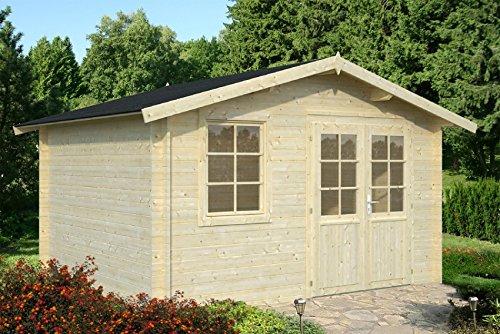 Casita de madera de abeto para jardín de 10 m²