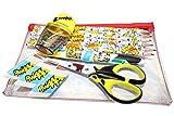 Maped M999024 - Schul-Set Rabbids, 12-teilig, praktischer Reißverschlusstasche, Schreibset