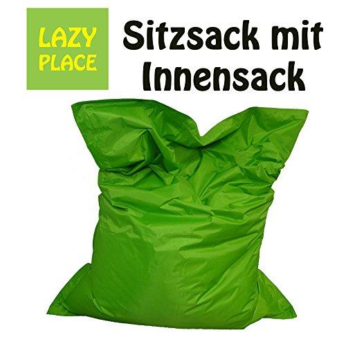 XXL Sitzsack Outdoor und Indoor, Lazy Place, abwaschbar, wasserfest, mit Innensack (apfelgrün) -
