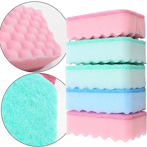 5x Milopon Reinigungsschwämme Scheuerschwämme Multifunktions Schwämme Wäscher für Küche und Bade