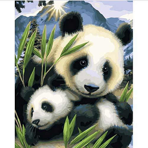CBUSYS Rahmenlose Bild Ölgemälde by Zahlen Wanddekor DIY Malerei Auf Leinwand Für Wohnkultur 40 * 50 cm Mutter Und Sohn