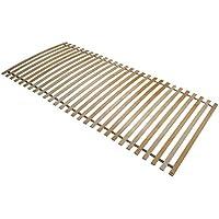 Interbett 800001 Lattenrost Roll 28, Rahmen, 28 Federholzleisten, fertig montiert, NV, 90 x 200 cm für alle Matratzen geeignet, metallfrei, bis 120 kg