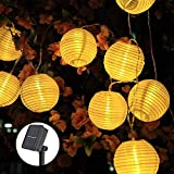 Solar Lichterkette Lampions, ECOWHO 6.5M 30 LEDs Lampions Laterne Lichterkette, Wasserdicht Solar Lichterkette aussen für Party Weihnachten Garten...