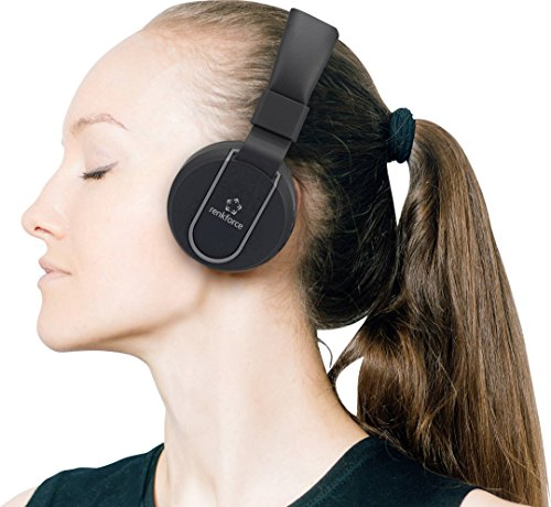Renkforce RF-BTK-100 Bluetooth® HiFi Stereo-Headset On Ear Headset, Faltbar Schwarz-Grau (Rf-headset)