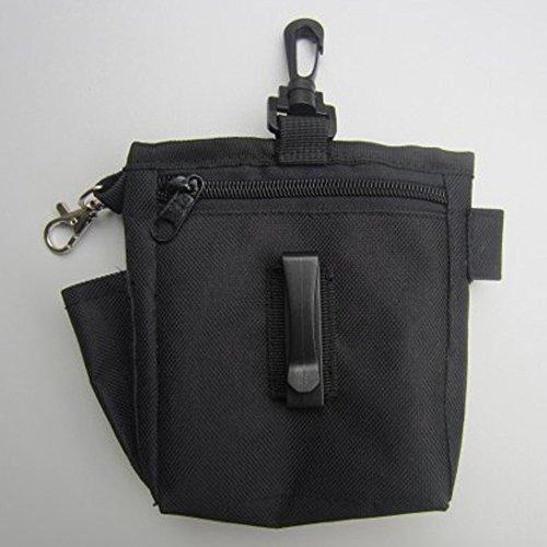 Verstellbare Pet Treat Bag Mini Snack Köder Pouch Bag Aufbewahrung Hund Katze Training Gürteltasche Belohnung für Lebensmittel Biscuit Halterung (schwarz) -