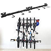 XCSOURCE Bike Storage Rack Holds 5 Bicycles Bike Wall Mounted Bike Hanger Holder Bicycle Storage Rack Garage Storage Systems for Home & Garage,2 Pack
