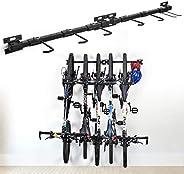 XCSOURCE Bike Storage Rack Holds 5 Bicycles Bike Wall Mounted Bike Hanger Holder Bicycle Storage Rack Garage S