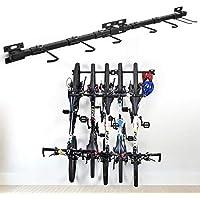 Soporte para bicicletas Plegable de montaje directo Soporte de almacenamiento para bicicletas Soporta 5 sistemas de almacenamiento para garaje ajustable para el hogar y el garaje