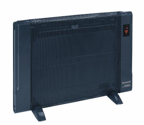 Einhell WW 2000 I Wärmewellenheizung, 2000 Watt, 2 Heizstufen, Thermostat, Timer, Fernbedieung