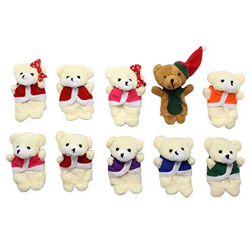 Homgaty 10 pcs Ours Dix dans le lit marionnettes à doigts étage Chambre d'enfant conte de fées Lui Indiquent le Parfait d'anniversaire, cadeau de Noël