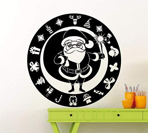 Wandtattoo Kinderzimmer Santa Claus-Winter-Weihnachtsbaum-Geschenk-neues Jahr für Wohnzimmer-Kinderzimmer scherzt Schlafzimmer