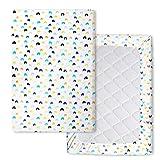 Flyish Flyish Wasserdicht Spannbettlaken Für Kinderbett 70 x 100 cm Laken aus Reiner Baumwolle für Babymatratze