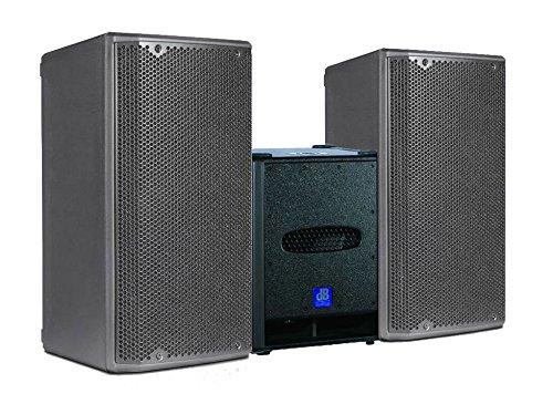 DB Technologies System Audio Profi Komplett 3200W PAAR Opera 10Aktive Lautsprecher/Subwoofer