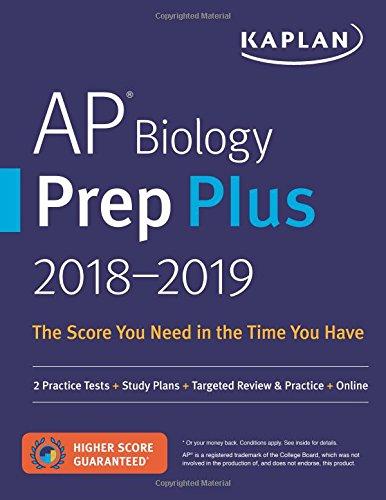AP Biology Prep Plus 2018-2019: 2 Practice Tests (Kaplan Test Prep)