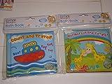 Packung mit 2 - One Of Each Jungle/Reisen Baby-Badezeit-Buch - Buntes und wasserfestes weiches Buch