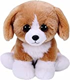Ty- Franklin, Hund Braun/weiß 15cm Babies Peluche Perro, Color marrón (United Labels Ibérica 42269TY)