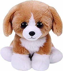 Ty- Franklin, Hund Braun/weiß 15cm Babies Peluche Perro, Color marrón (United Labels Ibérica 42269TY)