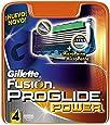 Gillette Fusion ProGlide - Power - Lames de Rasoir pour Homme - Pack de 4