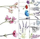 yyyDL tatouages temporaires Belle Flora Faux Tatouages   Autocollants Gloire Du Matin...