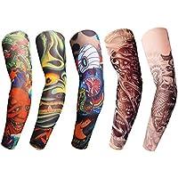 Gymforward - Mangas con tatuaje para el brazo, paquete de 5 unidades, Medium,