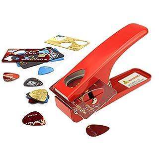 Zuanjia Plektrum-Stanzer, zur eigenen Herstellung von Gitarren-Plektren, stanzt Plektren jedes Mal perfekt. Eine tolle, unverzichtbare Geschenkidee für Gitarrenspieler