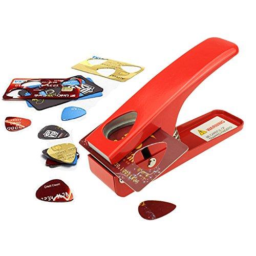 Zuanjia Plektrum-Stanzer, zur eigenen Herstellung von Gitarren-Plektren, stanzt Plektren jedes Mal perfekt. Eine tolle, unverzichtbare Geschenkidee für Gitarrenspieler -