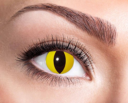 Yellow Cat farbige Kontaktlinse, Jahreslinse, 14,5 mm ohne Dioptrin für Cosplay, Fastnacht, Club etc.