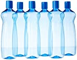 #1: Princeware Aster Pet Fridge Bottle Set, 975ml, Set of 6, Blue
