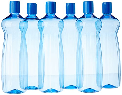 Princeware Aster Pet Fridge Bottle Set, 975ml, Set of 6, Blue