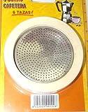 Dalper 115y36-Cafetière aluminium Rec Filtre + 3élastiques