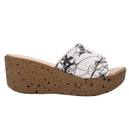 fereshte Peep-Toe Donna black flower