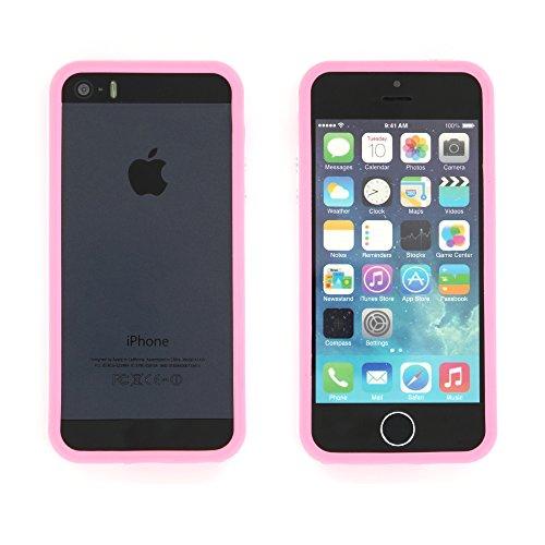 Flip-Case APPLE IPHONE 5S / IPHONE SE [Le Clap Touch Premium] [Weiss] von MUZZANO + STIFT und MICROFASERTUCH MUZZANO® GRATIS - Das ULTIMATIVE, ELEGANTE UND LANGLEBIGE Schutz-Case für Ihr APPLE IPHONE  Weiss und rosa + 3 Displayschutzfolien