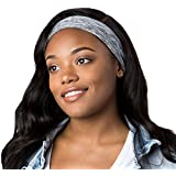Hipsy Hipsy Xflex Heather Adjustable & Stretchy Wide Sports Headbands For Women (Heather Grey)