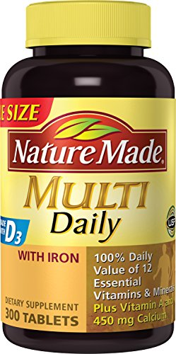 Nature Made Multi Daily With Iron Value Size – 300 Tablets