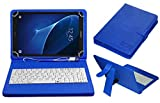 #10: ACM USB Keyboard Case for Samsung Galaxy Tab A T580 10.1 Tablet Cover Stand with Free Micro USB OTG - Blue