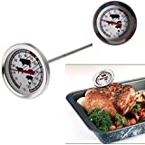 Macngrid Instant Read Probe Chef Thermometer BBQ Gauge Food Cooking Meat Stainless Steel