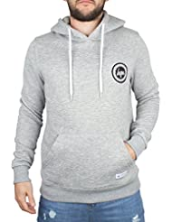 Hype Homme Crest Logo Hoodie, Gris