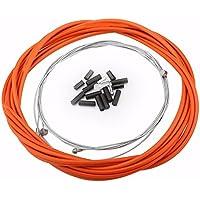 Cable de Freno Bicicleta para Freno Delantero y Trasero con Conjunto de Virolas ( Color : Naranja )