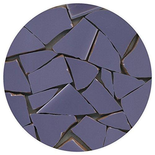 ALEA Mosaic Eclats de mosaïque émaillée, 20-50mm, 1Kg Violet nacré, BN02