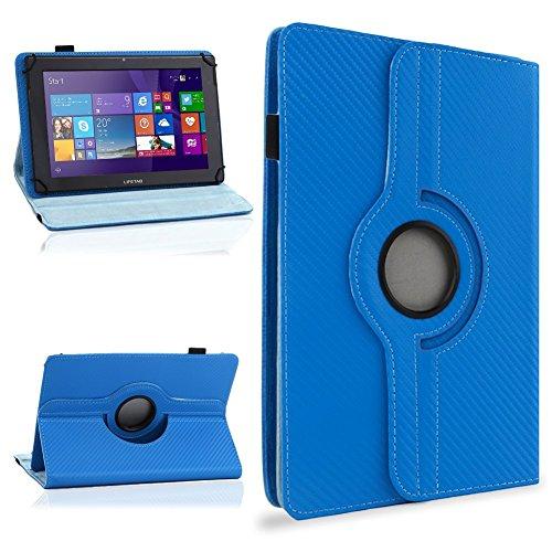 NAUC Schutzhülle für Ihr CSL Panther Tab 10 Hülle Tasche Carbon Cover Tablet Case, Farben:Blau