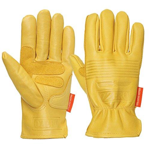 (Wooya Motorrad Leder Gelb Motorrad Winter Sport Racing Handschuhe-XL)