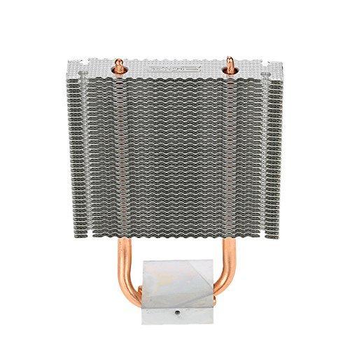 Heatpipes Kühler, KKmoon PCCOOLER HB-802 2 Aluminium Kühlkörper Motherboard / Northbridge Kühler Southbridge Kühlung Support 80mm Lüfter für Desktop-Computer -