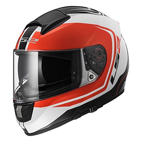 LS2 103972532M FF397 Casco Vector Wake, Color Blanco/Negro/Rojo, Tamaño M