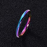 GMZWW Ring Paar Ring für Frauen und Mann Titan Stahl Liebhaber Ring Edelstahl Eheringe 2mm 4mm Dieser Ring glänzt mit Schönheit und fügt EIN luxuriöses Bild 2mm 11