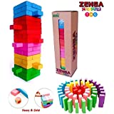 Brand Conquer 54 Pcs 1 Dice Challenging Color Wooden Blocks Tumbling Stacking Zenga Game for Adults and Kids. Make Maths Fun for Kids Or Have Party Fun