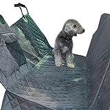 LINANNAV Cubierta de asiento de coche del perro, estera del asiento de carro para el perro resistente al agua de la hamaca del perro protector de asiento trasero para el recorrido del carro del SUV de