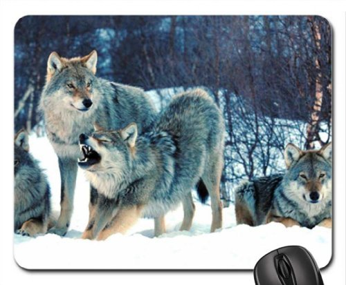 Wolfpack Designs (Wolfpack Mouse Pad, Mousepad)