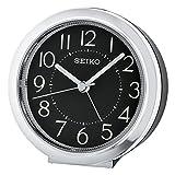 Seiko Unisex Wecker Analog Kunststoff Silber QHE146A