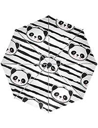 COOSUN Panda Oso automático 3 plegable del paraguas del parasol Color # 002